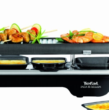 Der Tefal RE 5228 Raclette-Grill und Raclette Line 6 inox Design 1500 Watt kaufen - Ratgeber - Bild 3.