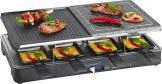 Der Clatronic RG 3518 Raclette-Grill und Raclette im Überblick und Ratgeber beim kaufen. Die geteilten Grillplatten und Pfännchen.