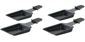 Die Spring Raclette-Pfännchen 4er-Set mit Antihaftbeschichtung für Raclette und Raclette-Grill.