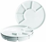 Domestic Professional Fondueteller zum Raclette und Raclette-Grill essen geeignet - Mehr Platz mit diesem Teller!