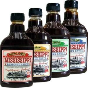 Die Mississippi Barbecue Saucen in vier Sorten - Perfekte Beilage (Essen / Sauce) zum Raclette-Grillen auf einem Raclette bzw. Raclette-Grill.
