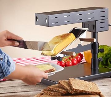 Der Rosenstein & Söhne Raclette-Ofen Schweizer Art im Raclette Ratgeber als Alternative zum klassischen Raclette-Grill.
