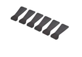 Die Tefal XA9000203 Raclette-Schaber. Sechs Schaber aus Thermoplastik.