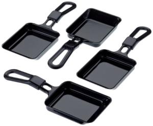 Steba Universal Raclette-Pfännchen 4er-Set für Raclette und Raclette-Grill geeignet mit Antihaftbeschichtung.